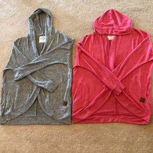2 Girls 11/12 abercrombie kids Hooded Cardigans